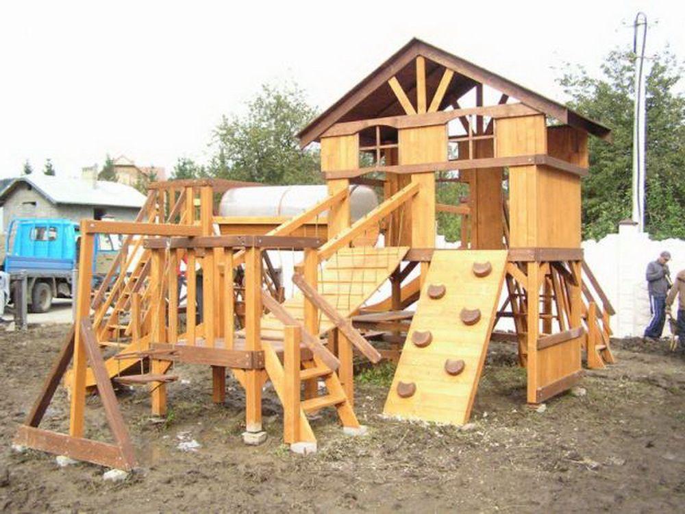 Детская площадка дерева своими руками фото
